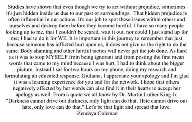 zendaya apology acceptance