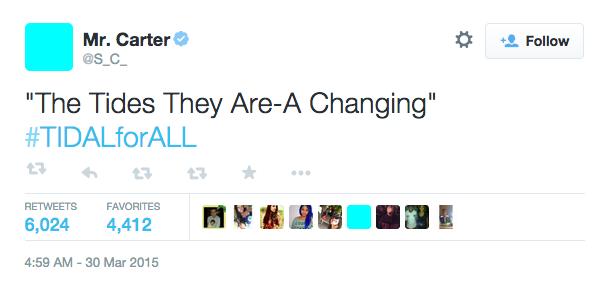 Jay Z Tidal Tweet